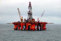 Oljeplattform i Nordsjøen