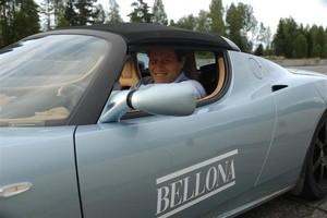 Stolt eier av Nordens første Tesla Roadster Sport (Ingress image)
