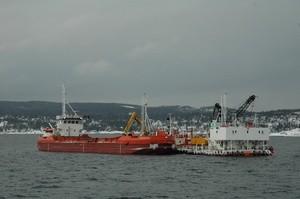 Nedpumpingsenhet to skip dypvannsdeponiet Malmoykalven
