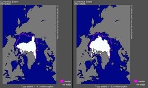 Issmelting i Arktis siden 1979 (Ingress image)