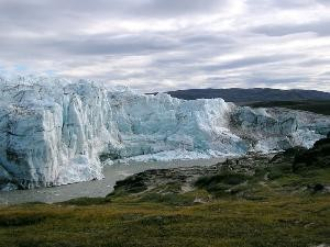 Isbre ved Kangerlussuaq i Grønland