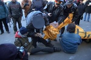 Uranium tailings protest