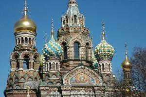 Russiske bygninger med gullkupler