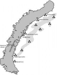 dumping av radiokativt avfall kart 2