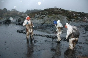 Opprydding etter oljeulykken ved Fedje (Ingress image)
