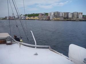 Norcem sett fra Bellona-båten Kallinika (Ingress image)