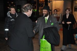 Frederic Hauge i møte med sjefen for FNs klimapanel IPCC Dr. Rajendra Pachuari.