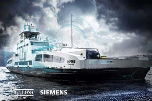 Arendalsuka el-ferge Ampere, Bellona og Siemens