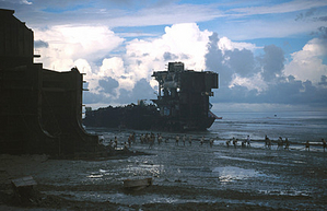 Shipbreaking yard in Chittagong, Bangladesh
