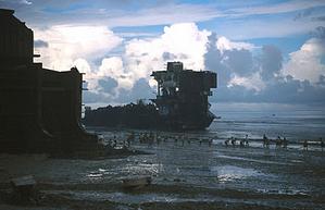Shipbreaking yard in Chittagong, Bangladesh