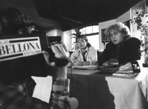 Miljøstiftelsen Bellona ble stiftet 16. juni 1986, og offentliggjort på en pressekonferanse i oktober samme år. Sifterne var Rune Haalnd (til v.) og Frederic Hauge.