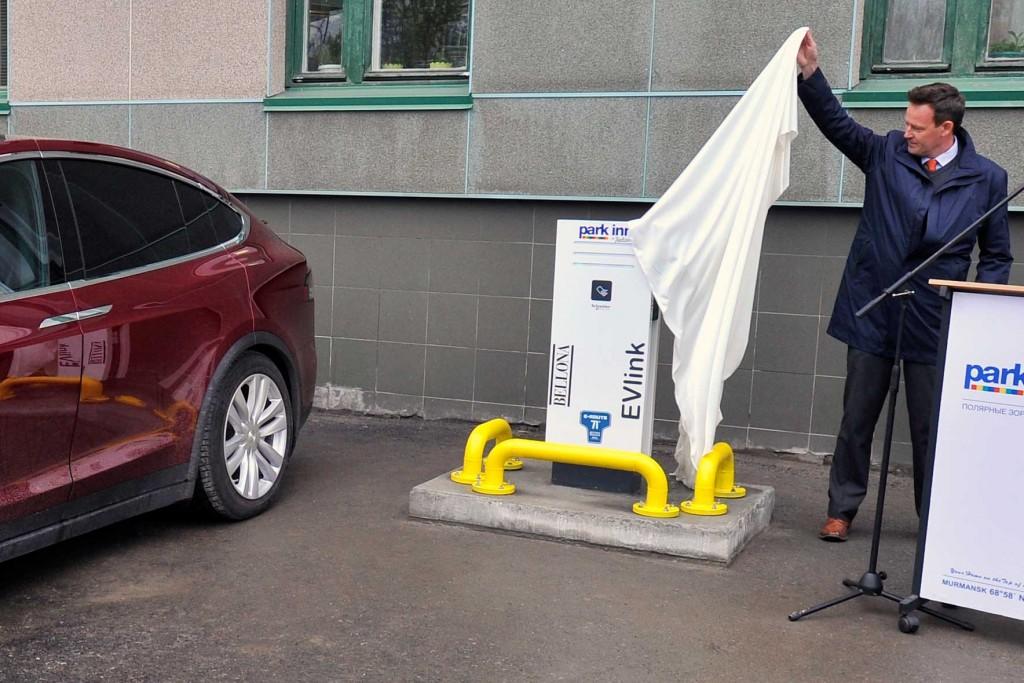 Ladestasjon el-bil avduking Murmansk Bellona