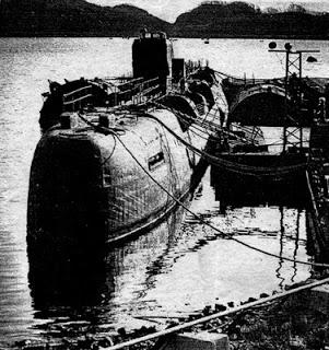 chasma ubåt sprengt ved lasting av atombrensel