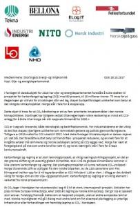 CCS-brev til Stortinget