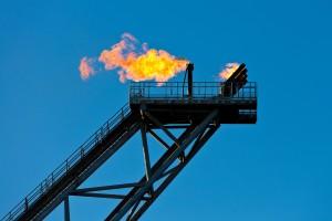 Gas flare gassflamme oljeplattform fakkel