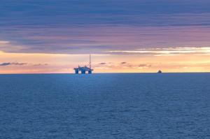 Oljeplattform i Nordsjøen Norge