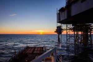 Oljeplattform i Nordsjøen Danmark