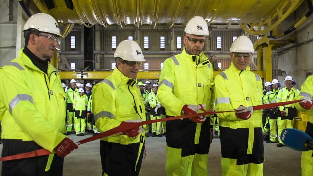 Goliat-åpning Tord Lien og Hammerfest-ordfører
