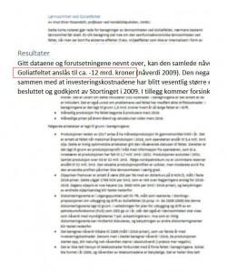 Goliat Lønnsomhet Rosendal
