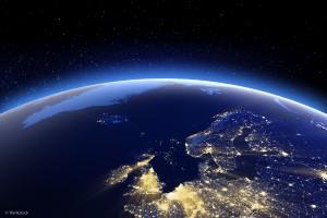 Kart verdensrom Norden natt