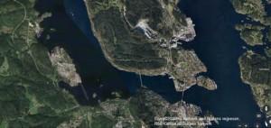 Kart over Brevik og omegn