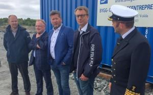 Åpning Kråkøya kysthavn fiskeriminister