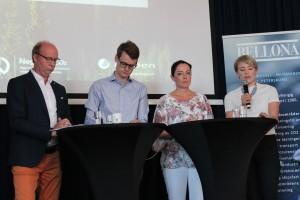 CCS-debatt: stortingsrepresentantene Ketil Kjenseth (V), Tore Storehaug (KrF), Else-May Botten (Ap), og Kari-Elisabeth Kaski (SV