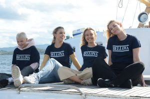 Pernille, Julie, Tina og Ida på Kallinika