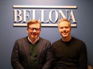 Styreleder i Bellona Henrik A. Lund og daglig leder Hallstein Havåg