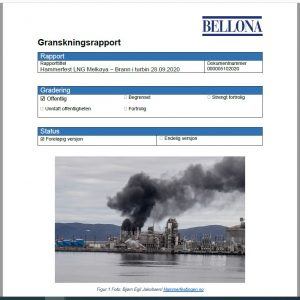 Granskingsrapport: Hammerfest LNG Melkøya - brann i turbin 28.09.2020