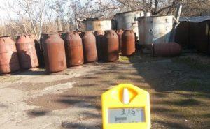 Strålingsnivået ved det utendørslagrede radioaktive avfallet ved Pridnieprovsky Chemical Plant i Ukraina.
