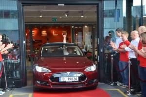 Europas første Tesla Model S