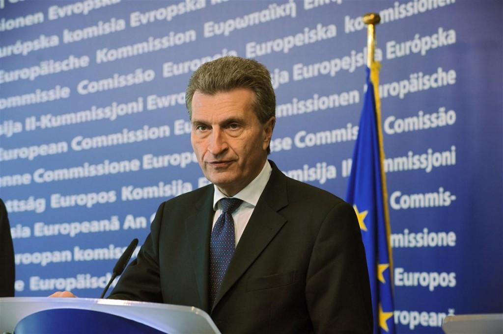 EUs energikommisær Günther Oetiinger