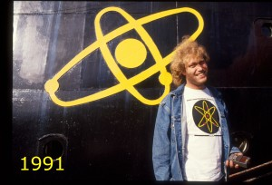 Frederic Hauge v/atommerke 1991