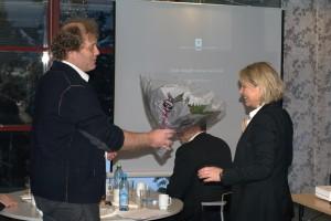 Frederic Hauge og næringsminister Monica Mæland