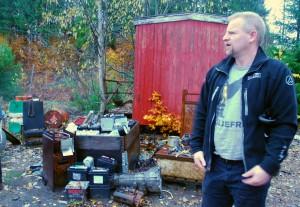 Karl Kristensen og bilbatterier dumpet i Elverum