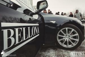 Bellona i Murmansk med elbilen Tesla.