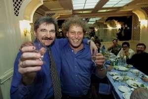 Aleksandr Nikitin og Frederic Hauge ved seieren i 2000