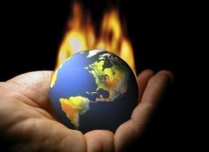 jordklode i brann