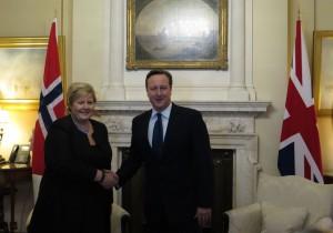 Erna Solberg og David Cameron