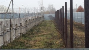 Barbed wire and fences at the Sadovaya Prison Colony. (Photo: Charles Digges)