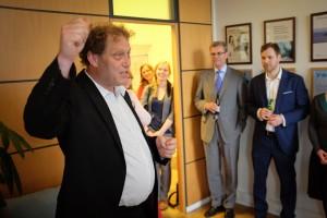 Frederic Hauge ved Bellonas kontor i Brussel