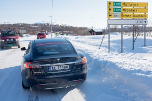 Bellona's trip from Northern Norway to Murmansk, Russia, in EV Tesla.