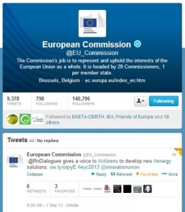 European Commission's Twitter showcasing R&Dialogue (Frontpage ingress image)