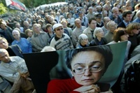 politkovskaya protest (Frontpage ingress image)