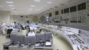 The control room of the Leningrad nuclear plant.