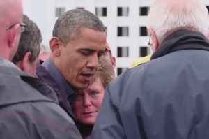 obama talking to public