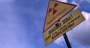 A radiation danger sign near Murmansk. (Photo: Courtesy of Thomas Nilsen/The Independent Barents Observer)