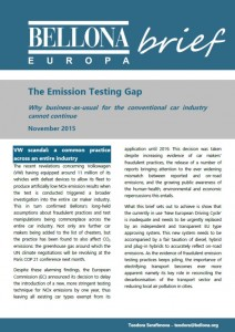 BellonaBrief Emission Testing Gap