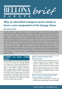 E-mobility in Energy Union Brief